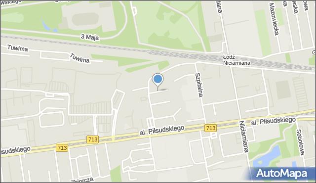 Łódź, Stylonowa, mapa Łodzi