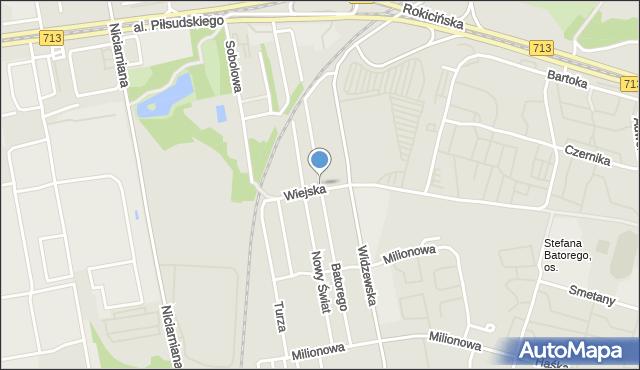 Łódź, Stefana Batorego, mapa Łodzi