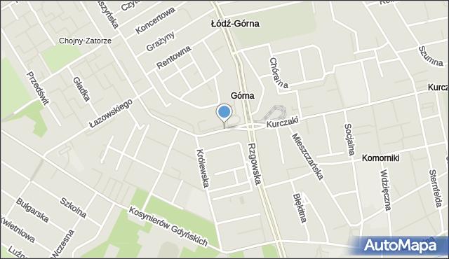 Łódź, Strażacka, mapa Łodzi