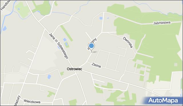 Lubaczów, Starzyny, mapa Lubaczów