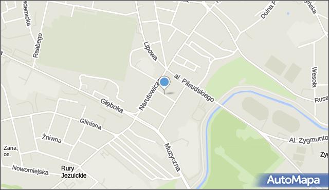 Lublin, Strażacka, mapa Lublina