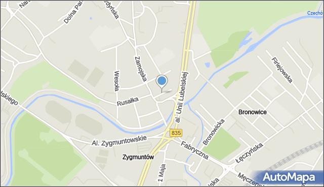 Lublin, Stolarska, mapa Lublina