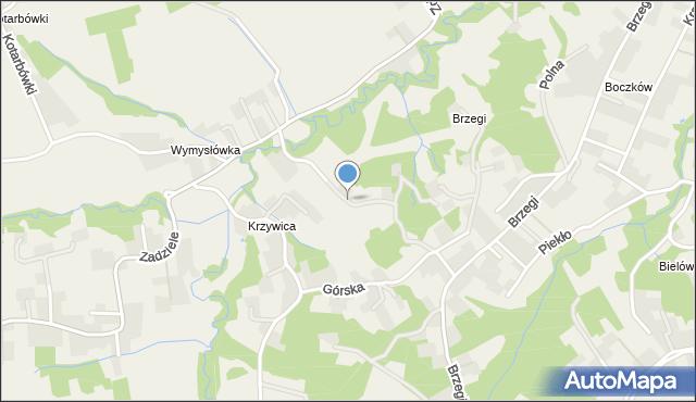 Lusina gmina Mogilany, Stroma, mapa Lusina gmina Mogilany