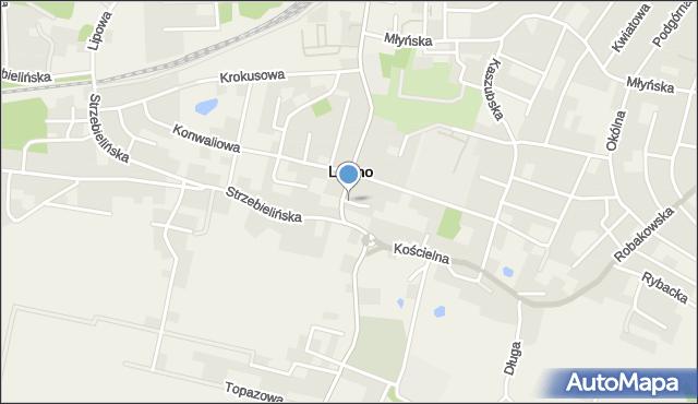 Luzino, Strażacka, mapa Luzino