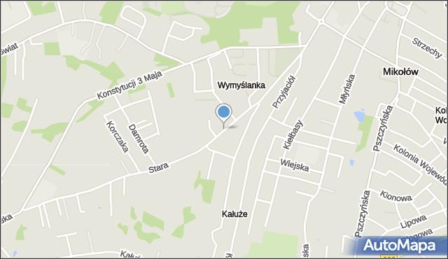 Mikołów, Stara Droga, mapa Mikołów