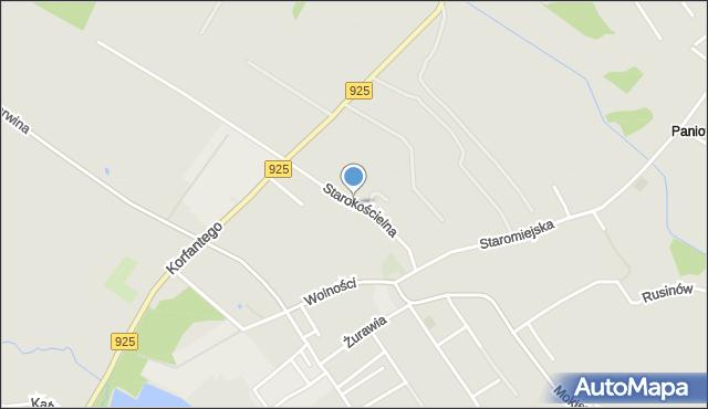 Mikołów, Starokościelna, mapa Mikołów