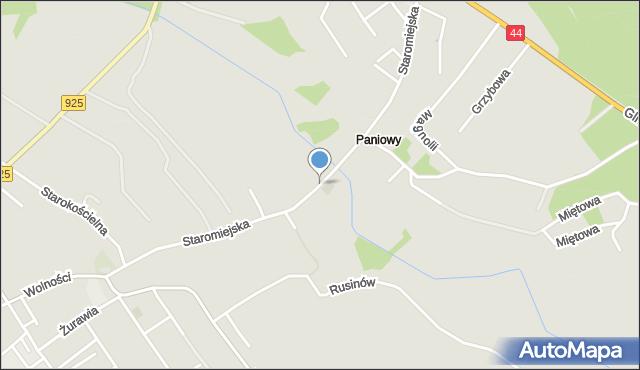 Mikołów, Staromiejska, mapa Mikołów
