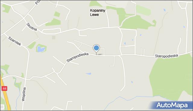 Mikołów, Staropodleska, mapa Mikołów