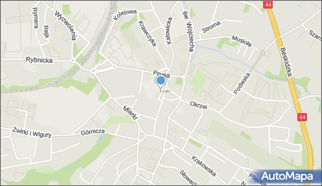 Mikołów, Stawowa, mapa Mikołów