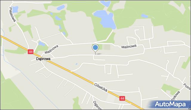 Mikołów, Strażacka, mapa Mikołów