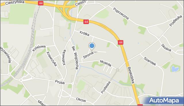 Mikołów, Stroma, mapa Mikołów
