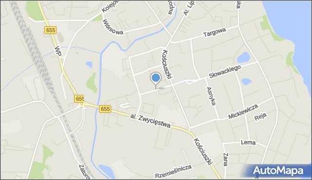 Olecko, Stefana Batorego, mapa Olecko