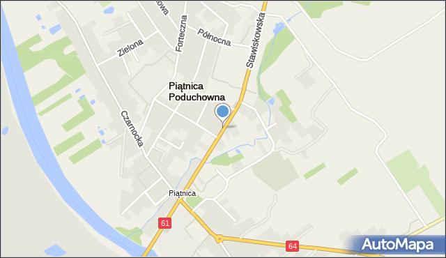 Piątnica Poduchowna, Stawiskowska, mapa Piątnica Poduchowna