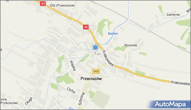 Przeciszów, Stroma, mapa Przeciszów