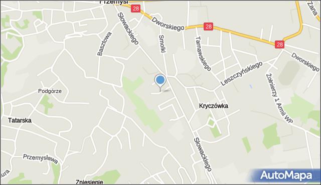 Przemyśl, Stachiewicza Juliana, gen., mapa Przemyśla