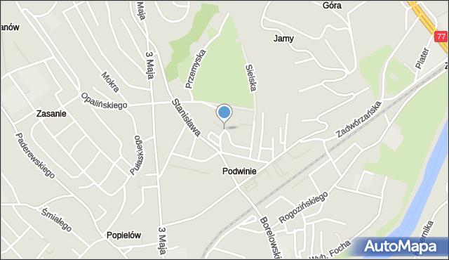 Przemyśl, Stanisława Augusta, mapa Przemyśla