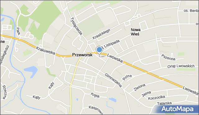 Przeworsk, Stepkiewicza Pawła, mapa Przeworsk