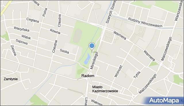 Radom, Stary Ogród, mapa Radomia