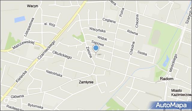 Radom, Stolarska, mapa Radomia