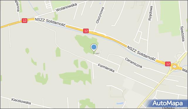Radom, Strycharska, mapa Radomia