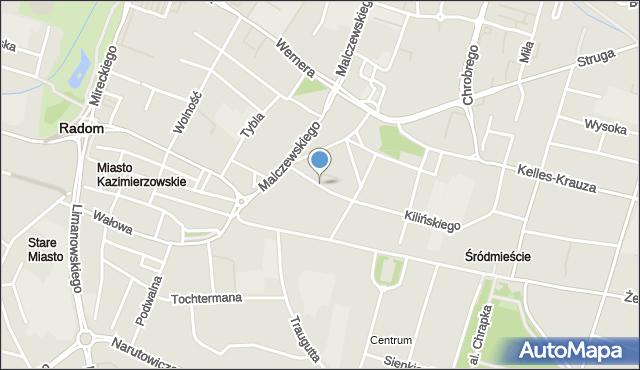 Radom, Stańczyka, mapa Radomia