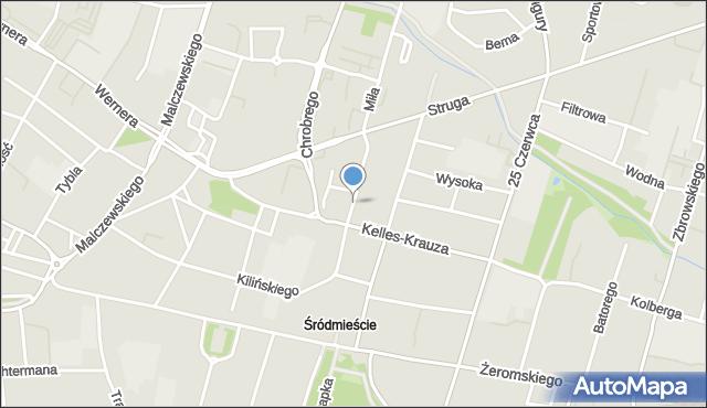 Radom, Staszica Stanisława, mapa Radomia