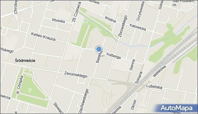 Radom, Stefana Batorego, mapa Radomia