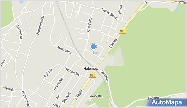 Ruda Śląska, Strzelców Bytomskich, mapa Rudy Śląskiej