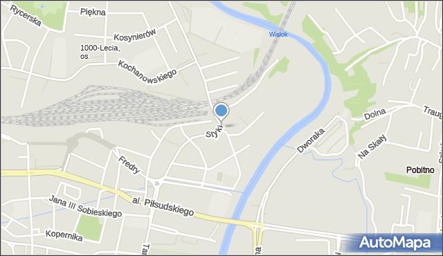 Rzeszów, Styki Jana, mapa Rzeszów