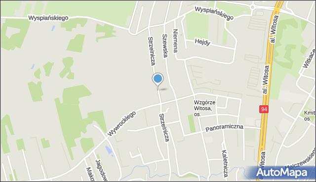 Rzeszów, Strzelnicza, mapa Rzeszów