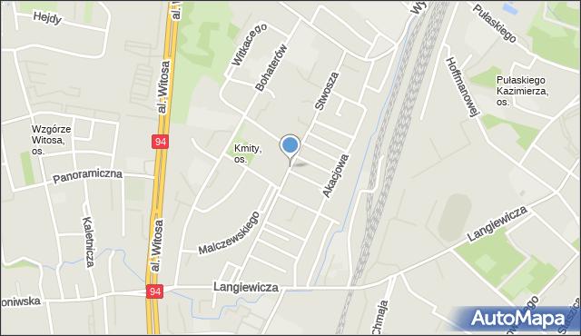 Rzeszów, Stwosza Wita, mapa Rzeszów