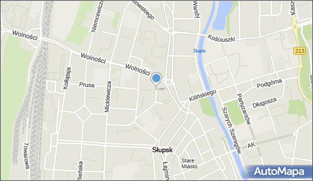 Słupsk, Staszica Stanisława, mapa Słupska