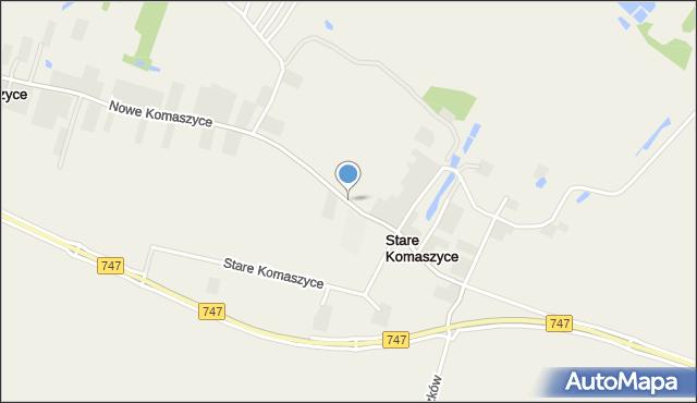Stare Komaszyce, Stare Komaszyce, mapa Stare Komaszyce