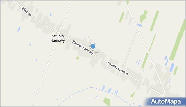 Strupin Łanowy, Strupin Łanowy, mapa Strupin Łanowy