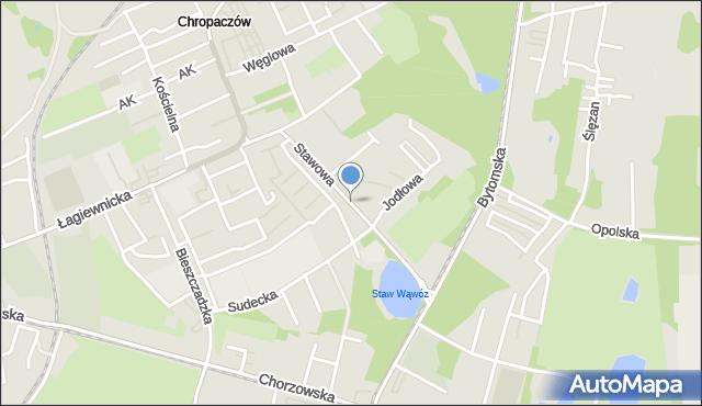 Świętochłowice, Stawowa, mapa Świętochłowice