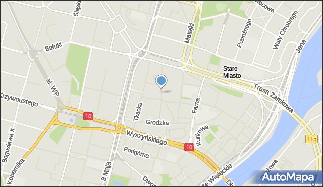 Szczecin, Staromłyńska, mapa Szczecina