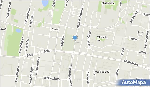 Tarnów, Starodąbrowska, mapa Tarnów