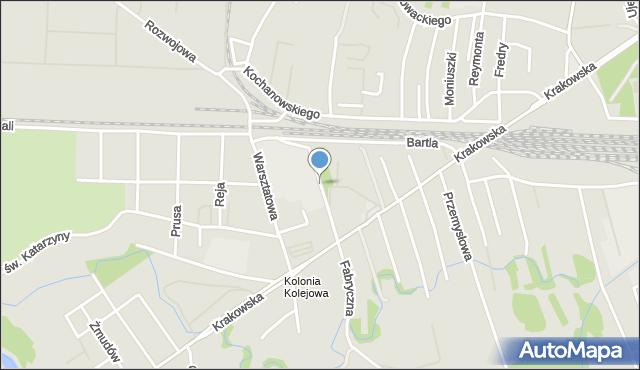 Tarnów, Strusińska, mapa Tarnów
