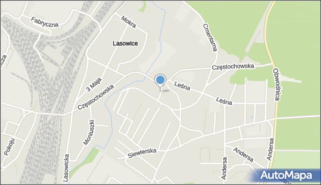Tarnowskie Góry, Stawowa, mapa Tarnowskie Góry