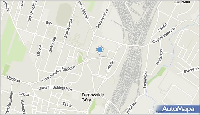 Tarnowskie Góry, Styczyńskiego Jana, mapa Tarnowskie Góry