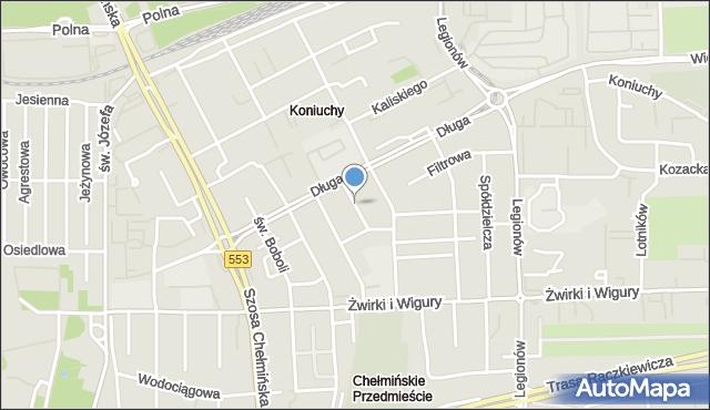 Toruń, Steinbornów, mapa Torunia