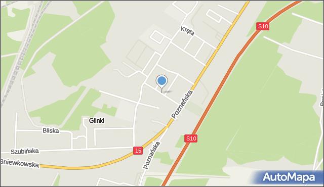 Toruń, Stepowa, mapa Torunia