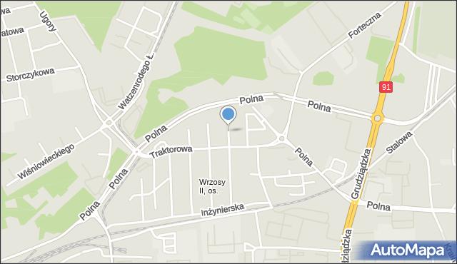 Toruń, Strehla Leona, płk. dr., mapa Torunia