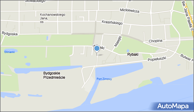 Toruń, Stroma, mapa Torunia