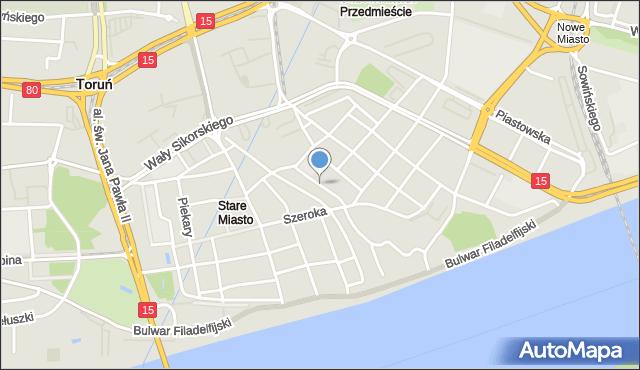 Toruń, Strumykowa, mapa Torunia