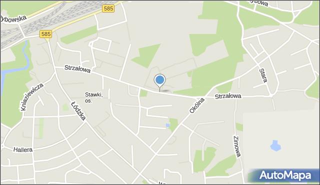 Toruń, Strzałowa, mapa Torunia