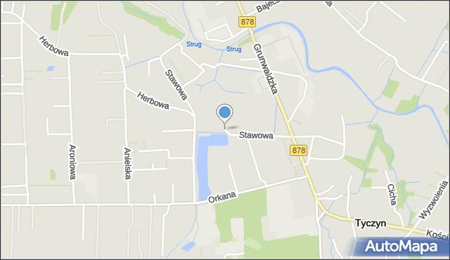 Tyczyn powiat rzeszowski, Stawowa, mapa Tyczyn powiat rzeszowski