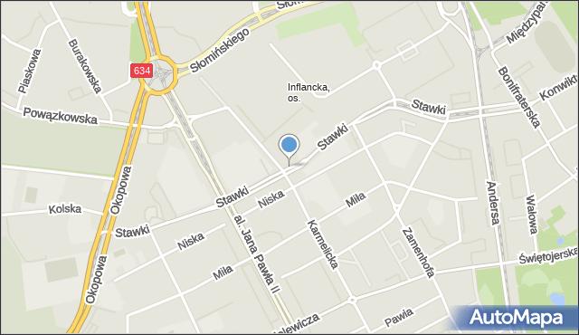 Warszawa, Stawki, mapa Warszawy