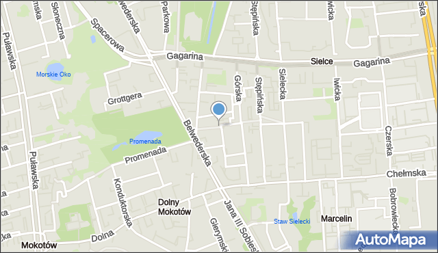 Warszawa, Stopowa, mapa Warszawy