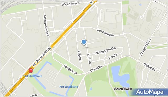 Warszawa, Stadionowa, mapa Warszawy